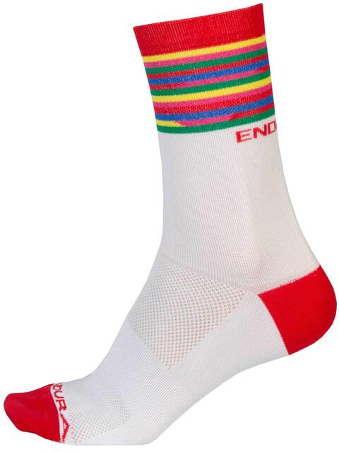 Endura Pinstripe Socks Men white